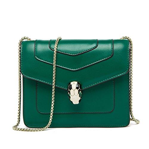 FairyBridal Women Genuine Leather Messenger Handbags,Cover Crossbody Bag 4 Colors By - Chloe Bag Womens