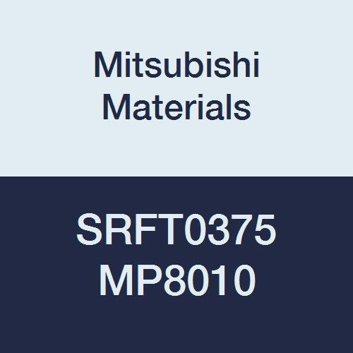 Mitsubishi Materials SRFT0375 MP8010 Coated Carbide Milling Insert Round Honing Square 0.102 Thick Pack of 10