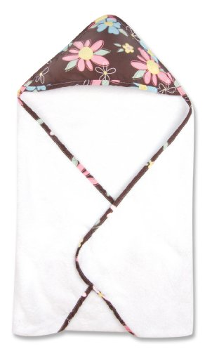 (Trend Lab Blossoms Blooming Bouquet Hooded Towel in Floral Print)