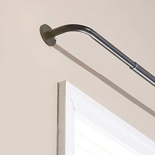 Best Home Fashion Curtain Rod Collection - Wraparound Blacko
