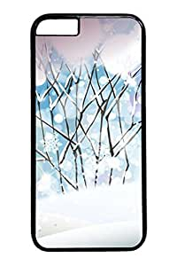 6 plus Case, iPhone 6 plus Case - Black Hard Back Cover for iPhone 6 Plus Snow White World Scratch-Resistant Case and Cover for iPhone 6 Plus 5.5 inches