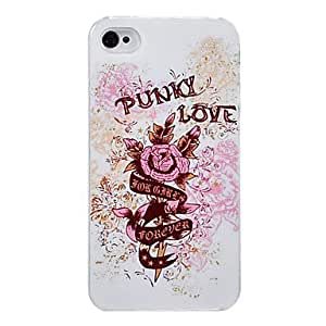 DUR Punky Love Pattern PC Material Hard Case for iPhone 4/4S