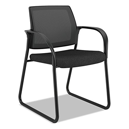 HON Ignition Guest/Multi-Purpose Sled Base Chair with Mesh Back, Black