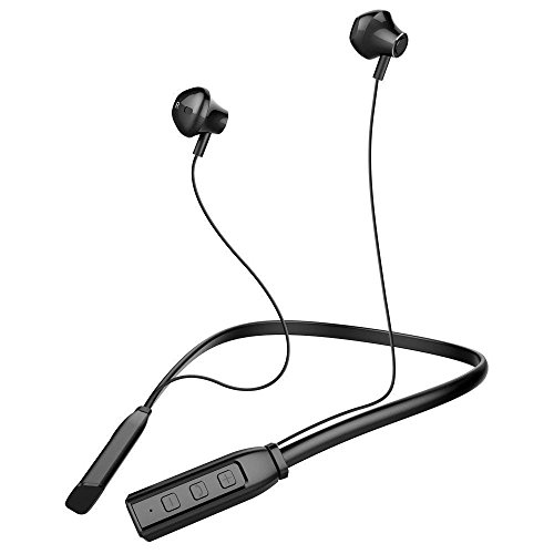 Bluetooth Headphones, Wireless Headset Stereo Neckband Sport Earbuds with Mic (Super Sound Quality Bluetooth 4.1, 12 Hours Play Time, Secure Fit Design,Sweatproof)
