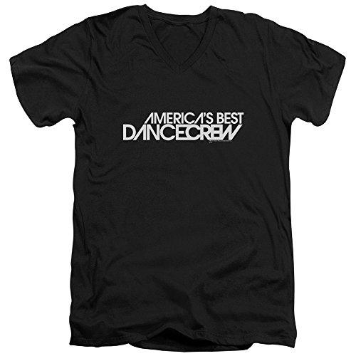 America's Best Dance Crew Reality TV Series MTV Logo Adult V-Neck T-Shirt Tee (Best Of America's Best Dance Crew)