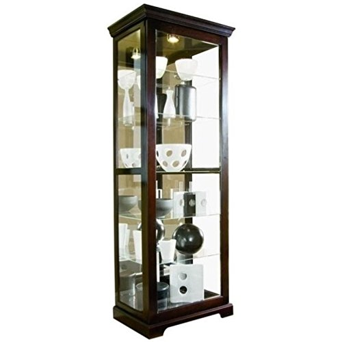 Beaumont Lane Curio Cabinet in Chocolate Cherry