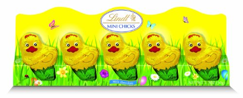 Lindt Milk Chocolate Mini Easter Chicks, Net Wt 1.7 Ounce, 5-Count