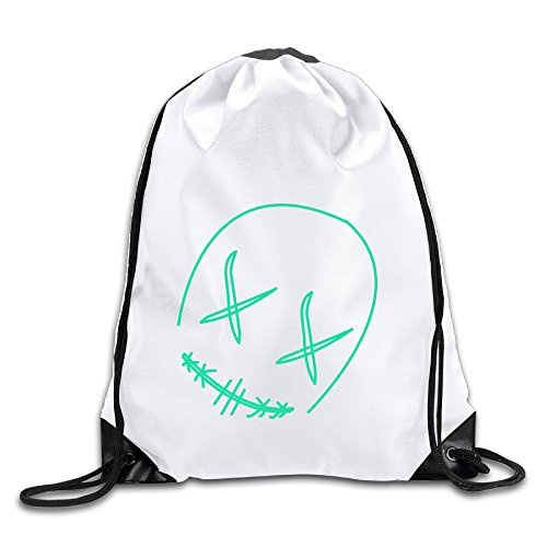 Hunson - Fashion Unique Line Mask Sport Bag Drawstring Sling Backpack For Men & Women Sackpack