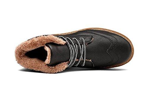 La tendencia de invierno de los hombres de la juventud calienta botas de nieve ocasionales acolchadas , 43 , black