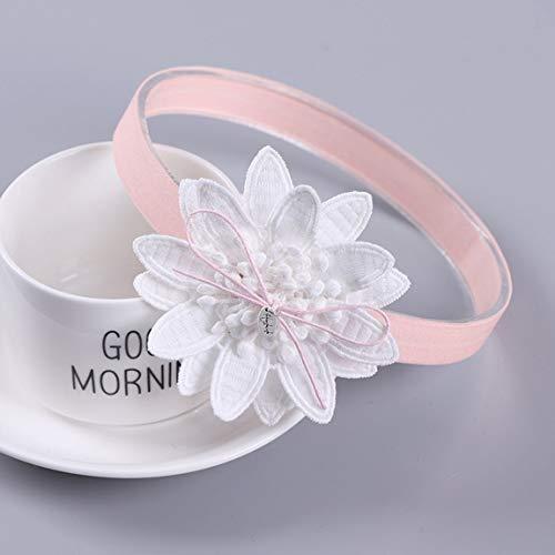 Adornos para el pelo de los niños flores para el bebé niña pelo sombreros - Blanco