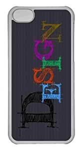 Customized iphone 5C PC Transparent Case - Design Typography 2 Personalized Cover by lolosakes