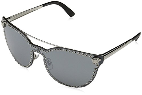 Versace Womens Sunglasses Silver/Silver Metal - Non-Polarized - - Versace Lenses