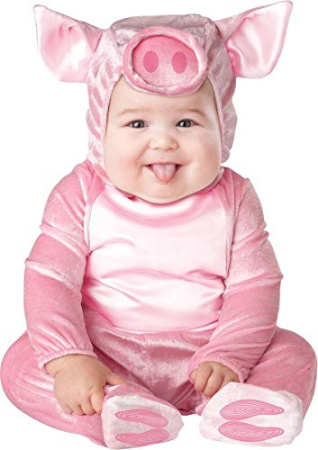 InCharacter Costumes Baby's This Lil' Piggy Costume, Pink, Large]()