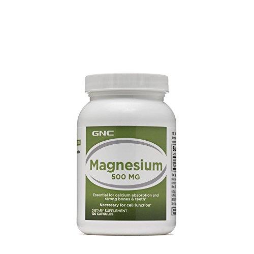 GNC Magnesium 500mg for Bone Tooth Strength - 120 Capsules