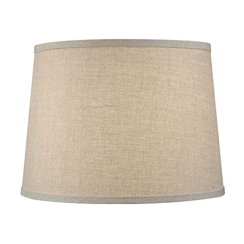 Upgradelights Sand Linen 12 Inch Uno Lamp Shade Replacement 9x12x7.5 (Bridge Lamp Parts)