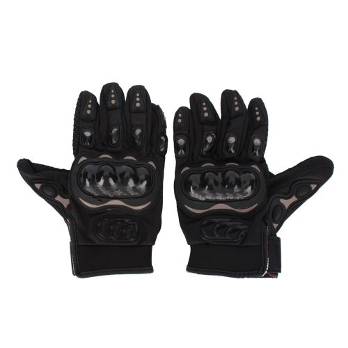 SODIAL(TM) Bicycle/Motorcycle Riding Protective Gloves Black L