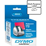 The Excellent Quality LABEL, DYMO WHITE 1/2'' x 1''