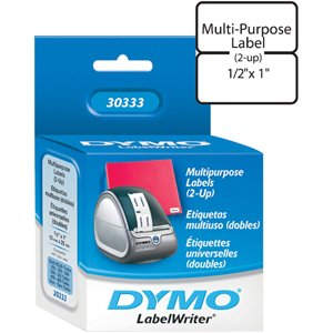 The Excellent Quality LABEL, DYMO WHITE 1/2'' x 1'' by DYMO