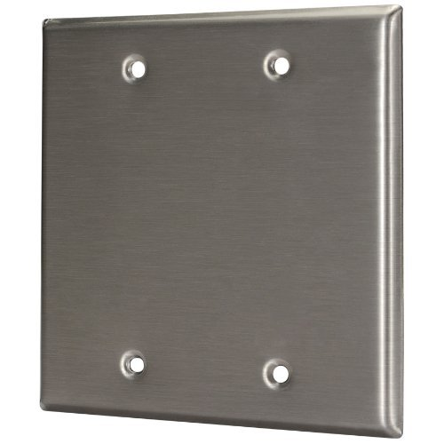 - Pro Co WP2000 Blank Stainless Steel Metal Wall Plate Dual Gang