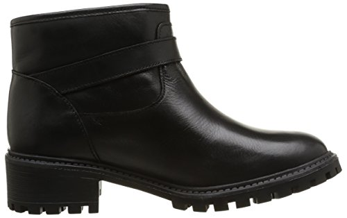 Pieces Uda Leather Short Boot - Botas de caucho mujer negro - negro