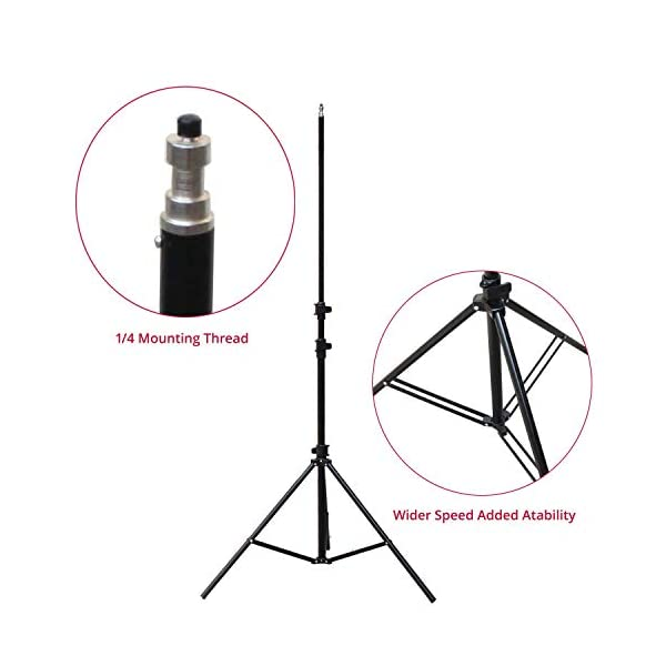 Shootvilla Portable Fold-able Umbrella Flash Light Stand Photo Video Studio Lighting Photography Stand- 8ft