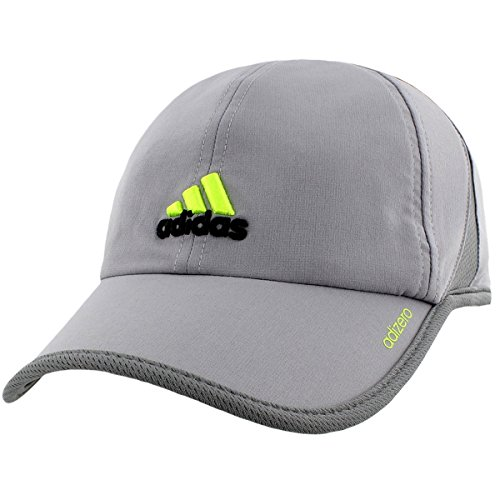 98f06e1d Galleon - Adidas Mens Adizero Ii Cap, Grey/Onix/Semi Solar Slime, One Size