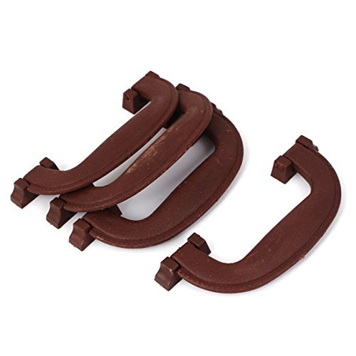 Brown Largo Furniture - DealMux 145mm Long Plastic Luggage Part Suitcase Carrying Pull Handle Brown 4pcs