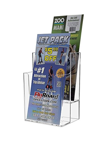Marketing Holders Lot of 12 Clear 2-Tier Countertop Brochure Holder by Marketing Holders