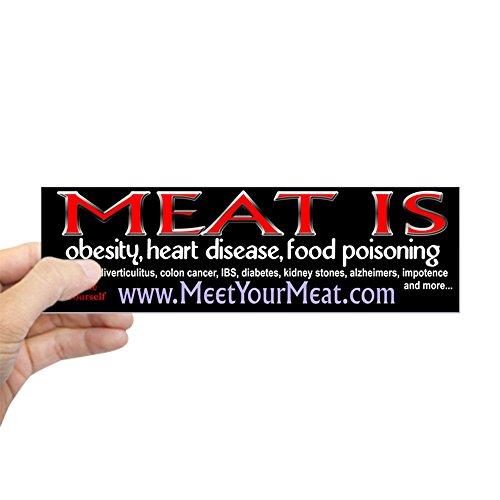 CafePress Meat Is Disease Bumper Sticker 10