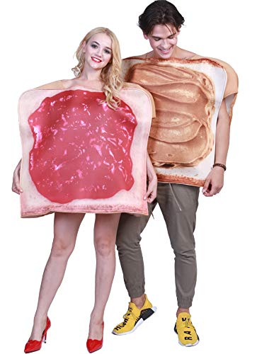 ALOVEY Couples Peanut Butter and Jelly Costume for Halloween Party ()