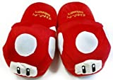 Super Mario Brothers Red Mushroom Plush Slippers
