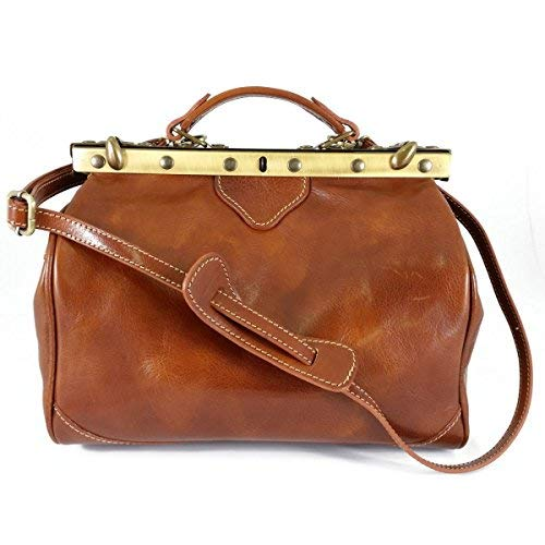 Made In Italy Genuine Leather Bag For Doctor Color Cognac - Business Bag   B01EMLA1ZG