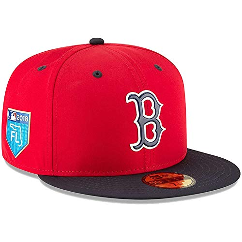 Boston Red Sox New Era Navy 2018 Spring Training Collection Prolight 59FIFTY Fitted Hat - Red (7 ()