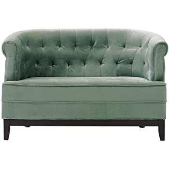 velvet tufted sofa canada dark gray studio saretta blue