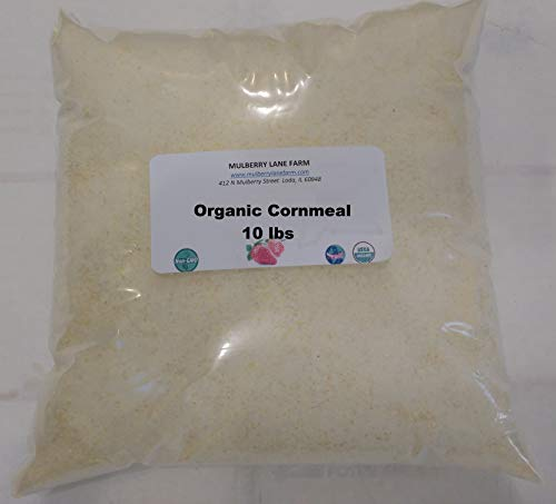 (Cornmeal, 10 Pounds, Yellow, Whole Grain with Germ, USDA Certified Organic, Non-GMO, Bulk)
