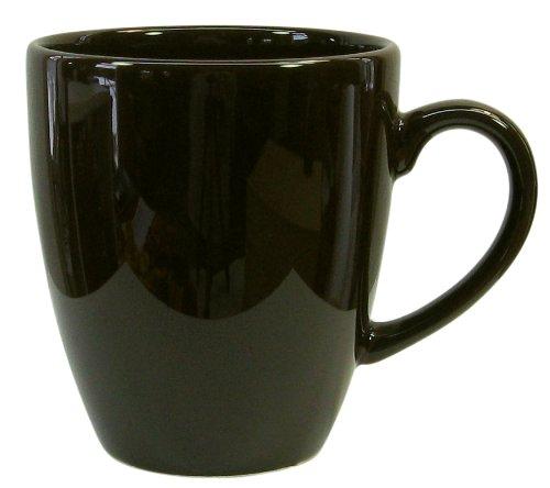 Waechtersbach Fun Factory II Black Jumbo Cafelatte Mugs, Set of 4 ()