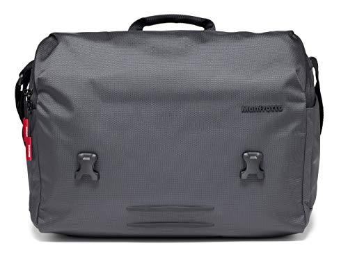 Manfrotto Manhattan Speedy 30 Messenger Bag for CSC, DSLR/Mirrorless Cameras, DJI Mavic Pro/Pro Platinum Drones, Gray ()