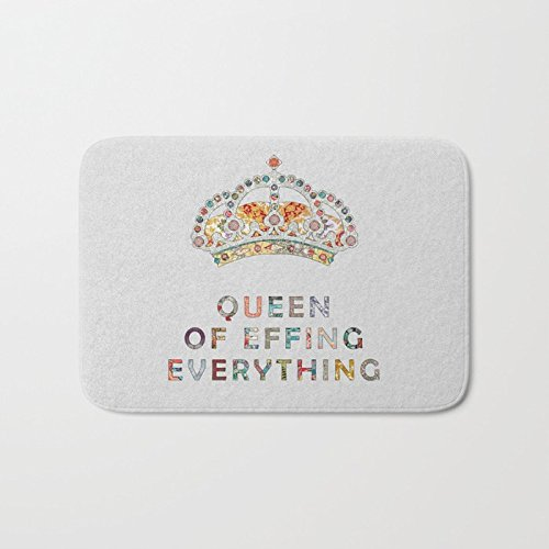 AfagaS Queen Of Effing Everything Bright Crown Filled With Jewels Front Welcome Door Mat Indoor Durable Heat-Resisting Non-Slip Rug Size 18x30 - Jewels Jr