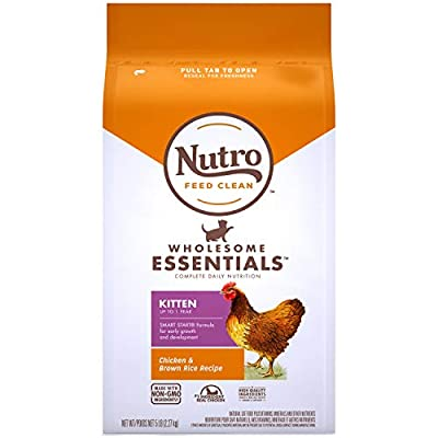 Cat Food Nutro Wholesome Essentials Kitten Dry Cat Food Farm-Raised Chicken... [tag]