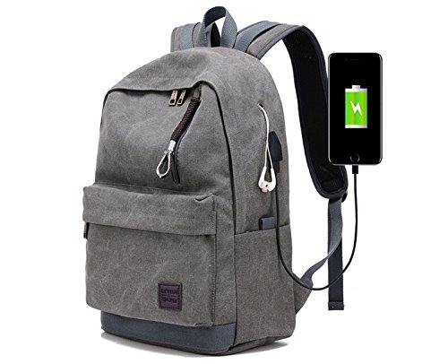 Laptop Backpack Travel Accessories Daypack for Men Women,Large Lightweight School College Book Bag with Computer & Notebook Compartment and USB Charging Port for Business Hiking Traveling Airplane