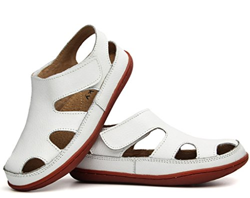 Pictures of DADAWEN Girl's Boy's Summer Leather White 1 M US Little Kid 3