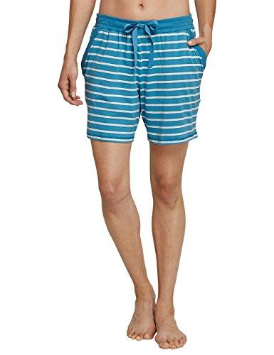 Schiesser Mix & Relax Jerseyhose Kurz, Pantalones de Pijama para Mujer azul (atlantikblau 899)