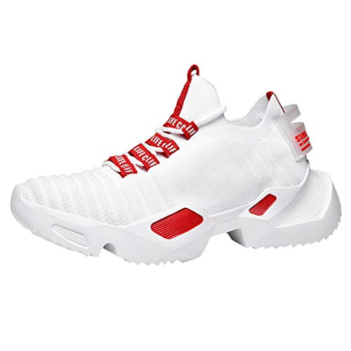 (JJLIKER High Upper Basketball Shoes Sneakers Mesh Breathable Sports Shoes Anti Slip for Men Boys Teen)