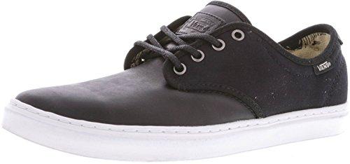 Vans Mens Ludlow Låga Topp Snörning Mode Sneakers Svart / Vit