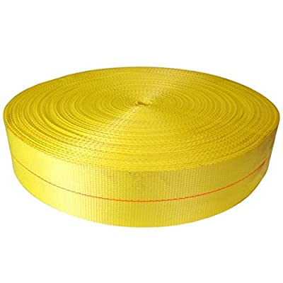"4"" x 300' Yellow Polyester Webbing - 24,000 lb Tensile Strength"