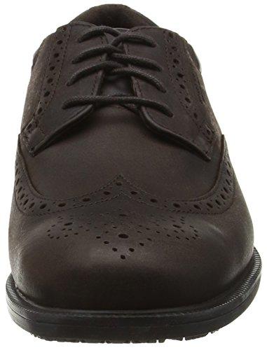 Rockport Essential Details Waterproof Wingtip - Zapatos de vestir Hombre Marrón - Brown (Dark Brown Nubuck)