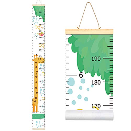 Sylfairy Growth Chart, Kids Wall Ruler Removable Height Measure Chart for Boys Girls Growth Ruler Unicorn Wall Room Decoration 79''7.9'' (Giraffe) ()