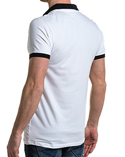 Avec Zip Homme Tendance Polo Blanc American People wCaqqOF