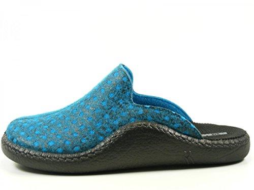 Damen Farbe Grau Blau Mokasso 6112154710 Hausschuhe Romika F0OEqO