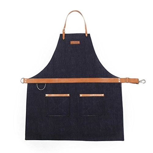 Rugged Apron - Waxed Denim - Indigo - Made in USA from Hardmill